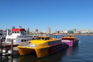 Long Beach, Bateaux, Port, Catamaran, Navire, Marina